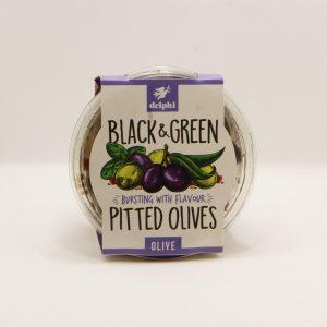 black & green olives
